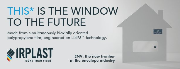 """You are currently viewing Irplast presented """"ENV"""", the first S-BOPP film for window envelopes"""